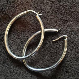 Authentic Italian 935 Sterling Silver earrings